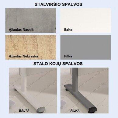 "Augantis stalas ""DIEGO 2D"" 130x70 cm 9"