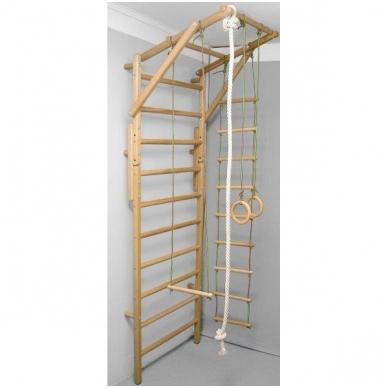 Gimnastikos sienelės virvių komplektas, medinis 3