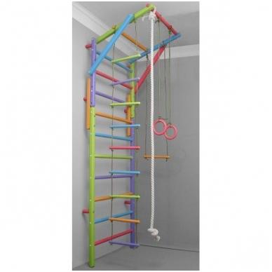 Gimnastikos sienelės virvių komplektas, spalvotas