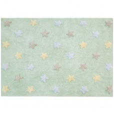 """Kilimas """"Tricolor Stars Soft Mint"""" 120x160cm"""