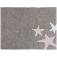 "Kilimas ""Three Stars Grey-Pink"" 120x160cm"