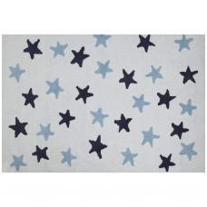 """Kilimas """"Žvaigždutės"""" baltas/mėlynas 120x160cm"""