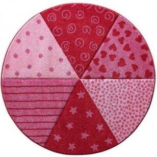 "Kilimas ""Canon Red-Rose"" apvalus 120cm"