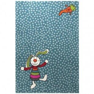 "Kilimas ""Rainbow Rabbit"" mėlynas 160x225cm"
