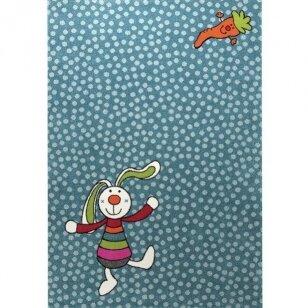 "Kilimas ""Rainbow Rabbit"" mėlynas"