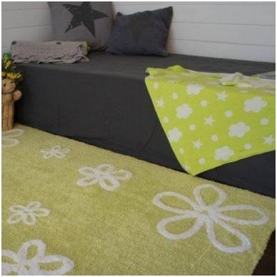 """Kilimas """"Gėlytės"""" žalias 120x160cm 2"""