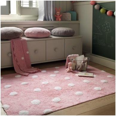 """Kilimas """"Taškiukai"""" rožinis 120x160cm"""
