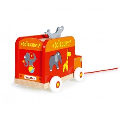 """Medinis žaislas """"Cirko mašina"""""""