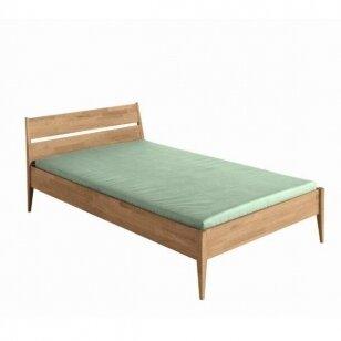 "Natūralaus ąžuolo lova ""STEN"" 90/120/140x200cm"