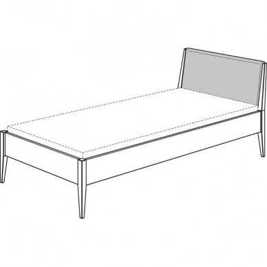 """Natūralaus ąžuolo lova """"STEN"""" su minkštu atlošu 90/120/140x200cm 9"""