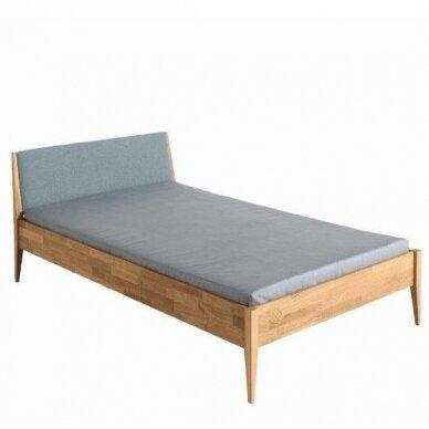 """Natūralaus ąžuolo lova """"STEN"""" su minkštu atlošu 90/120/140x200cm"""