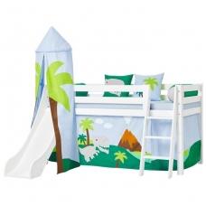 """Paaukštinta lova su čiuožykla ir bokštu """"Premium Dinosaur"""" h-114cm"""