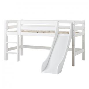 """Modulinė lovytė su čiuožykla """"Premium"""" h-114 cm su stačiomis kopetėlėmis"""