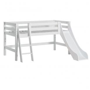"""Modulinė lovytė su čiuožykla """"Premium"""" h-114 cm su pasvirusiomis kopetėlėmis"""