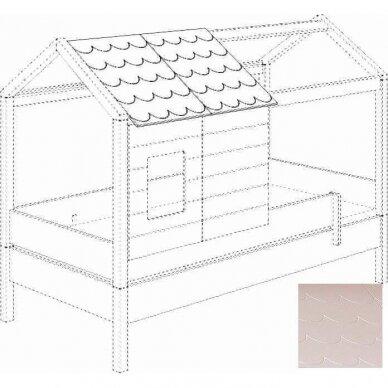 Lova-namas 200x90cm su primontuojamomis sienelėmis bei stogeliu 22