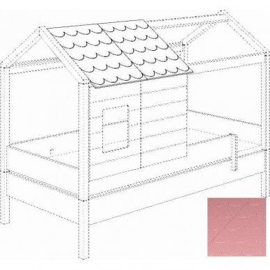 Lova-namas 200x90cm su primontuojamomis sienelėmis bei stogeliu 23