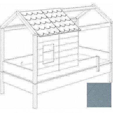Lova-namas 200x90cm su primontuojamomis sienelėmis bei stogeliu 24