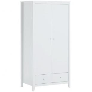 Spinta 2 durų su 2 stalčiais, balta