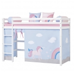 """Užuolaidėlės """"Unicorn"""" paaukštinai lovytei h-145/150cm"""