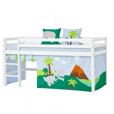 """Užuolaidėlės """"Dinosaur"""" paaukštinai lovytei h-105/114cm, arba dviejų aukštų lovai"""