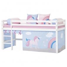 """Vaikiška paaukštinta lovytė """"Basic Unicorn"""" h-105cm"""
