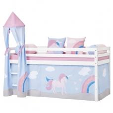 """Vaikiška paaukštinta lovytė su bokštu """"Basic Unicorn"""" h-105cm"""