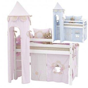 """Vaikiška paaukštinta lovytė su bokštu """"Basic Fairytale"""" h-105cm"""