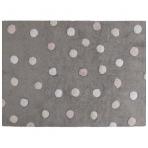 "Kilimas ""Tricolor Dots Grey-Pink"" 120x160cm"