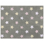 "Kilimas ""Tricolor Stars Grey-Pink"" 120x160cm"