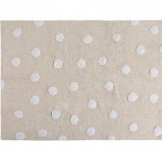 "Kilimas ""Polka Dots Beige-White"" 120x160cm"