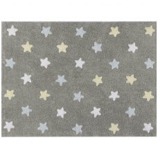 "Kilimas ""Tricolor Stars Grey-Blue"" 120x160cm"
