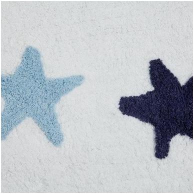 """Kilimas """"Žvaigždutės"""" baltas/mėlynas 120x160cm 2"""