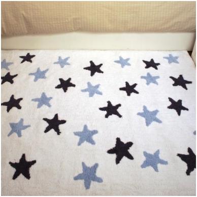 """Kilimas """"Žvaigždutės"""" baltas/mėlynas 120x160cm 3"""