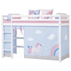 """Paaukštinta lovytė """"Basic Unicorn"""" h-145cm"""