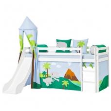 """Vaikiška lovytė su čiuožykla ir bokštu """"Basic Dinosaur"""""""