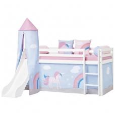 """Vaikiška lovytė su čiuožykla ir bokštu """"Basic Unicorn"""""""