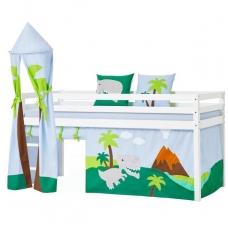 """Vaikiška paaukštinta lovytė su bokštu """"Basic Dinosaur"""" h-105cm"""
